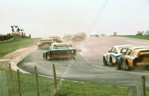 BMW 320 Turbo Group 5 Ronnie Peterson & Porsche 935s. Silverstone 6 Hours 1978.